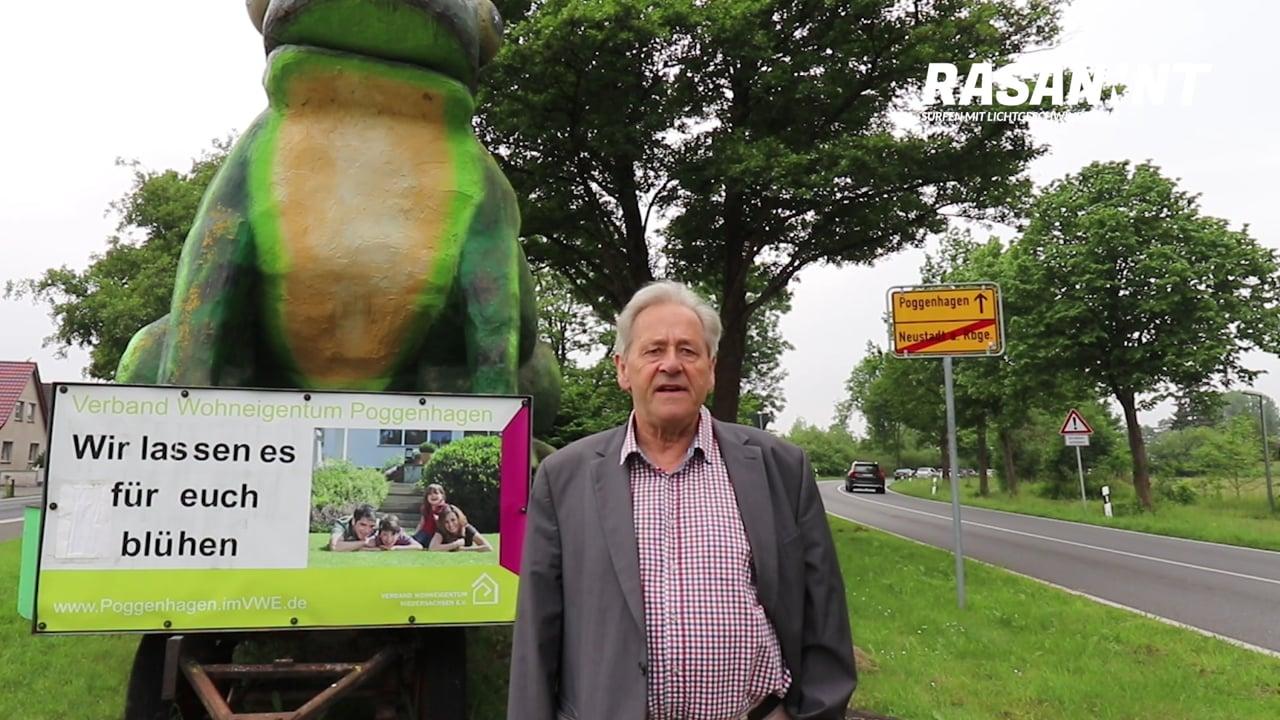 RASANNNT - Stadtwerke Aufsichtsratschef Willi Ostermann zum Ausbaustart in Poggenhagen