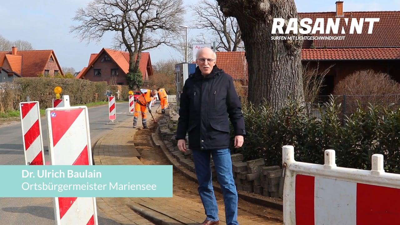 RASANNNT Baufortschritt Mariensee mit Ortsbürgermeister Dr. Baulain
